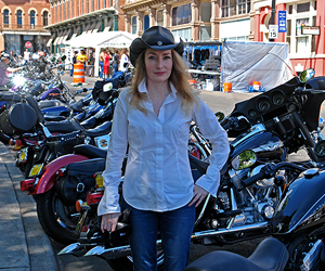 Julie at Las Vegas Motorcycle Rally
